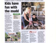 Childrens Mudpies Workshop Newspaper Article
