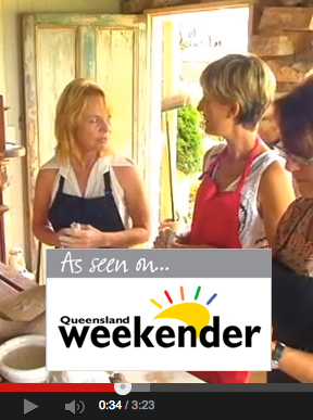 Fired Mudd workshops as seen on Queensland Weekender