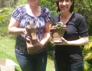 Deb and Donna with their creations
